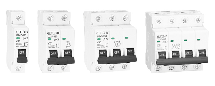 Circuit breaker supplier DZ47-63S 4.5KA Mini Circuit Breaker