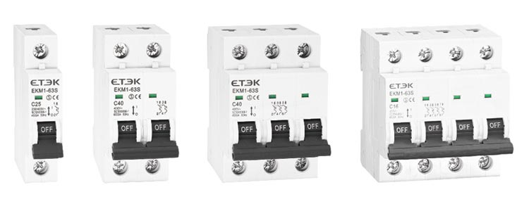 Circuit breaker supplier EKM1 63S 4.5KA Miniature Circuit Breaker