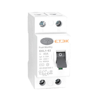 EKL1-63 6KA & 10KA Residual Current Circuit Breaker