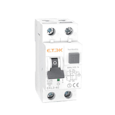 EKL3-40 6KA RCBO with Overcurrent Protection