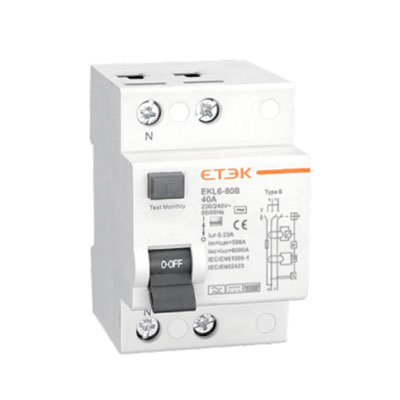 EKL6-80B 10KA Residual Current Circuit Breaker