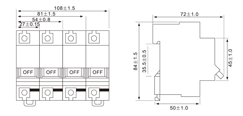 Mini Circuit Breaker Supplier Introduction EKM2 125 6KA MCB Drawing