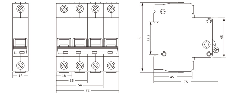 Mini Circuit Breaker Supplier Introduction EKD2 125 Isolation Switch Drawing