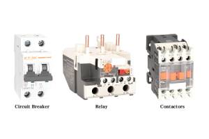 The difference between circuit breaker, contactor, relay?